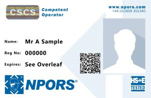 NPORS operator card