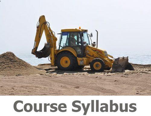 N201 180 Excavator Course Details