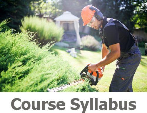 N610 Hedge Trimmer Course Details
